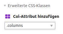 Col-Attribut columns hinzufügen
