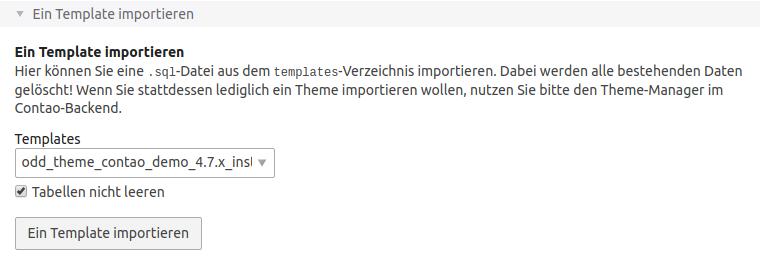 Datenbank importieren