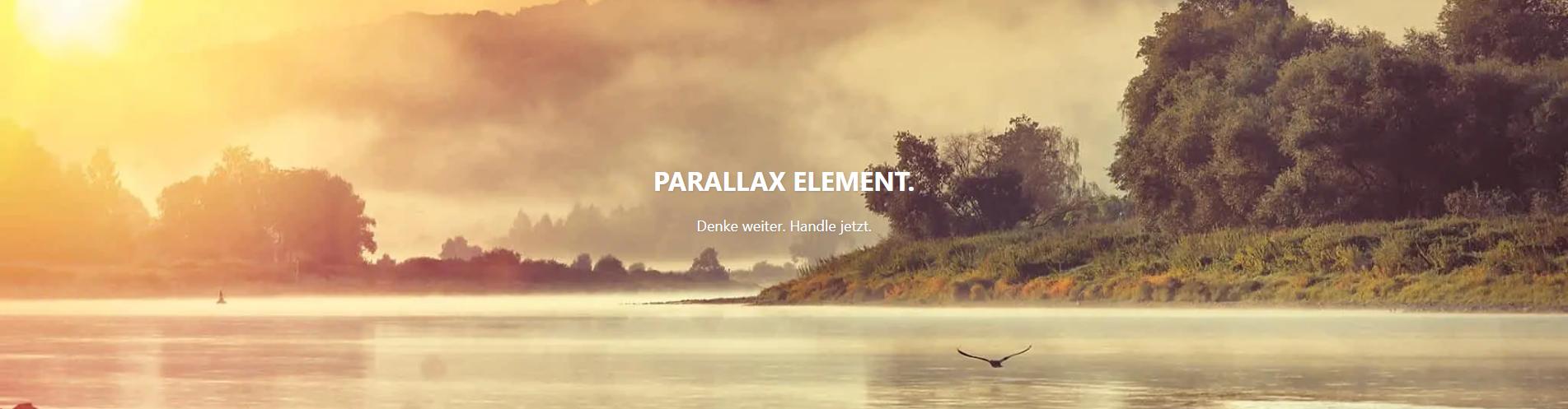 Parallax-Element Beispiel